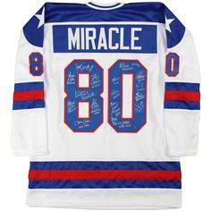 Steiner Sports Memorabilia USA Hockey Team Autographed 1980 Jersey featuring polyvore, women's fashion, jewelry, steiner sports, sports jerseys, sport jerseys and sports jewelry