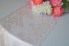 Light  Pink  Lace 11 Wide Sizes 3 Ft   12 FT Price by LolaAndBea
