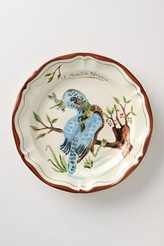 Nathalie Lete Kingfisher plate