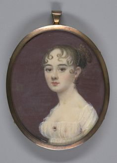Young Lady in a Sheer White Dress ~ miniature painting by William M. S. Doyle, 1805
