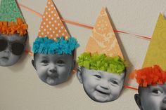 {Baby Birthday Banner Tutorial} *Too cute