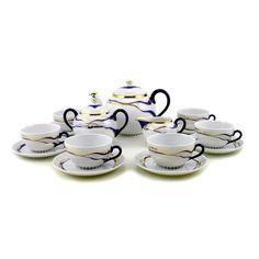 Blue-Gold Tea Service | Zsolnay Porcelain Manufactory