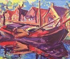 Arie Zuidersma (1925-2014) Schilderijen van Arie Zuidersma zijn zeer herkenbaar en het is duidelijk dat de schilder stijlmiddelen heeft ontleend aan de impressionistische  en expressionistische stijlen als zijn voorgangers in De Ploeg.