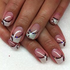 More bling nails I did By Melissa Fox