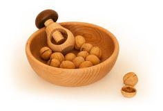 Beech bowls with nutcracker  /Miski bukowe z dziadkiem do orzechow