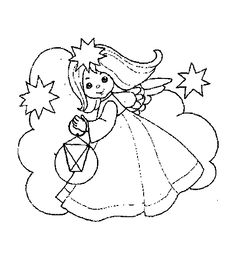 Coloring Page - Christmas angel coloring pages 15