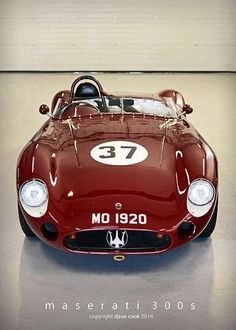 Bloody red: 1957 Maserati You are in the right place about Racing Cars drag Here we offer you Classic Sports Cars, Classic Cars, Sports Car Racing, Sport Cars, Drag Racing, Auto Racing, Dream Cars, Auto Retro, Roadster