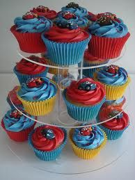 Image result for lightning mcqueen cupcakes
