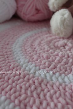 Crochet, blanket, pink for baby ...