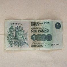 Robert the Bruce Scottish Pound Note 1980 on Etsy, $5.00