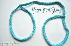 My Merry Messy Life: Crochet Yoga Mat Strap {free crochet pattern} Crochet Home, Crochet Crafts, Crochet Yarn, Free Crochet, Irish Crochet, Crochet Projects, Yoga Mantras, Crochet Bag Tutorials, Crochet Patterns