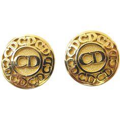 Christian Dior Logo Clip Earrings from 2heartsjewelry-rl on Ruby Lane #GotVintage #Vintage #Jewelry