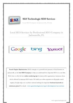 SGS Technologie, we offer local SEO services for online businesses to help them for an effective online marketing and positive reputation! Professional Seo Services, Local Seo Services, Internet Marketing, Online Marketing, Web Development Website, Advertising Techniques, Social Advertising, Best Seo Company, Technology