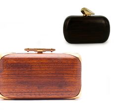 Wood clutches from Givenchy and Kotur.   Goes right onto the want it, but can never get it list