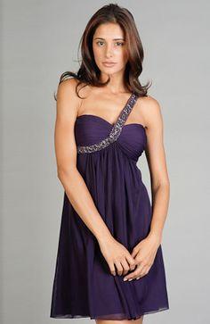 A-line Chiffon Purples Short Cocktail Dresses