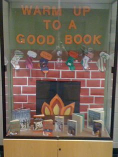 Warm Up To A Good Book - winter library display