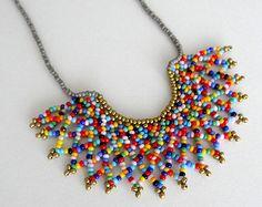 Collar de Coronita Degradado Azul Hecho a mano por LucianaLavin