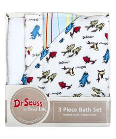 Another great find on #zulily! One Fish Two Fish Hooded Towel & Washcloth Set #zulilyfinds