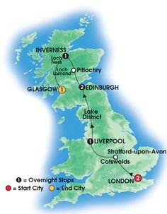 2013 ENGLISH & SCOTTISH DISCOVERY - 8 day Escorted Coach Tour of England and Scotland - Superior First Class Hotels - Overnights: 2 nts London, 1 nt Liverpool, 2 nts Edinburgh, 1 nt Inverness, 1 nt Glasgow.  Starts London/Finishes Glasgow - CIE Tours