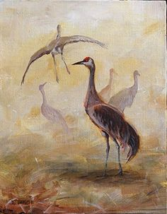 "NJ Busse Fine Art-Original Wildlife, Bird Painting ""There"" by Colorado Artist Nancee Jean Busse,Painter of the American West"