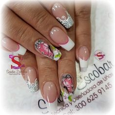 Butterfly Nail Designs, Pretty Nail Designs, Diy Nail Designs, Acrylic Nail Designs, Acrylic Nails, Spring Nail Art, Spring Nails, Purple Nail Art, Dream Nails