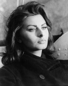 Sophia Loren. Can't believe I found a pic of her around my age. I have been told soooo many times that I look like her.