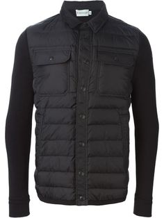 MONCLER padded knitted jacket. #moncler #cloth #рукавами