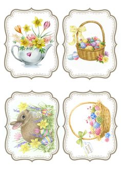 Easter Easter Pictures, Diy Ostern, Easter Printables, Free Printables, Free Machine Embroidery Designs, Easter Holidays, Easter Cookies, Decoupage Paper, Vintage Easter