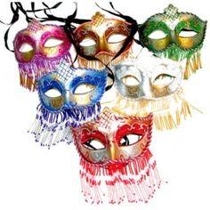Loup Vénitien 1001 nuits Blanc, Bleu, Vert, Fuschia, Rouge, Cuivre au choix, loup venitien et masque de Venise 1001 nuits avec voilette en perle adulte et enfant.