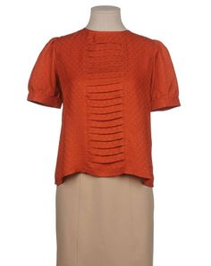 Sessun rust colored blouse