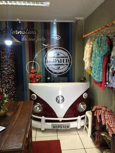 vw bus shop desk