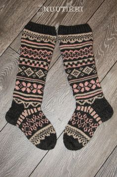 knitted fairisle socks