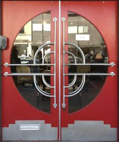Art Deco/Streamline/Machine Age doorway, Hudson, NY (uploaded by Retroworx)