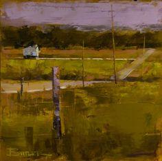 Curt Butler ~ Fresh Cut Green-Oil and Encaustic
