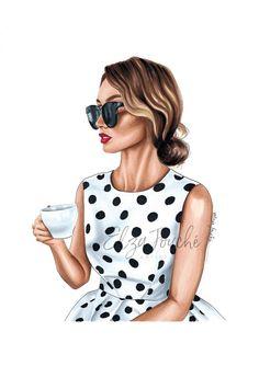 Foto Fashion, Girl Fashion, Illustration Girl, Makeup Illustration, Pin Up, Artsy Photos, Fashion Wall Art, Glamour, Women Life