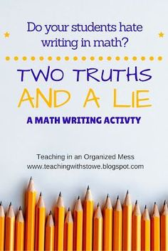 How To Produce Elementary School Much More Enjoyment I Had A Goal To Have My Students Write More In Math Class This Year, Without Making Writing Such A Big Deal. When Students Hear That Th. Math Vocabulary, Math Literacy, Math Classroom, Teaching Math, Math Teacher, Teaching Ideas, Numeracy, Math 8, Math Fractions