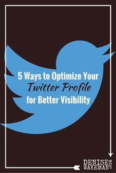 Five ways to optimize your Twitter Profile for better visibility so you get more likes, replies and retweets. Simple tips you can quickly implement today.