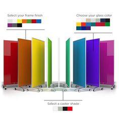 Mobile Glass Whiteboard | Go! by Clarus Glassboards