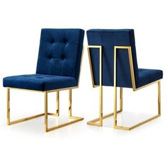 This Linen Parsons Chair featuring a beautiful contemporary design with tufted linen upholstery and gold plated stainless steel base. This chair is guaranteed to be the highlight of any dining set.