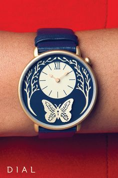 All she wants for Christmas is the inspiring, eclectic Butterfly Watch from Dial! The ravishing design of this beautiful accessory was created by paper artist Sarah Dennis and will add timeless elegance to any winter wardrobe.