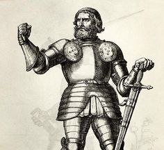 This medieval warrior was the first to use a now-famous insult - We Are The Mighty Radios, We Are The Mighty, Mechanical Arm, Famous Phrases, Imperial Knight, Online Magazine, Holy Roman Empire, How To Make Comics, Great Stories