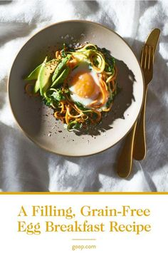These paleo-friendly egg nests are as delicious as they are adorable. We love the combo of sweet potato and zucchini, but feel free to play around with your spiralized veggies—carrots, beets, and celery root would work well, too.