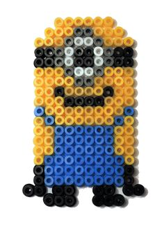 hama beads minion Hama Beads, Fuse Beads, Fuse Bead Patterns, Beading Patterns, Minions, Projects, 3d, The Creation, Pearls