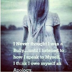 So true. I'm always so nice to everyone else but never put myself first