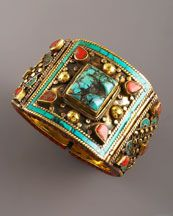 Stone embellished cuff