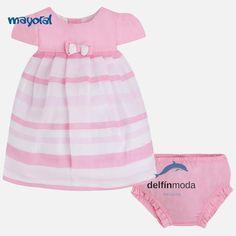 Comprar Vestido de bebe MAYORAL Newborn rayas con braguita 4412bc537bb