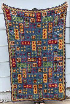 Transcendent Crochet a Solid Granny Square Ideas. Inconceivable Crochet a Solid Granny Square Ideas. Granny Square Crochet Pattern, Afghan Crochet Patterns, Crochet Squares, Crochet Granny, Crochet Stitches, Crochet Afghans, Quilt Patterns, Granny Square Quilt, Sunburst Granny Square