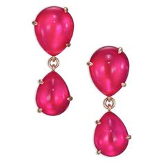 Pomellato Rouge Passion Mirrored Teardrop Earrings ($2,200) ❤ liked on Polyvore featuring jewelry, earrings, gold, cabochon earrings, fake earrings, rose jewelry, fake jewelry and cabochon jewelry