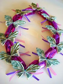 Candy money lei  I want to make a money lei for Haley's elementary school graduation next month!