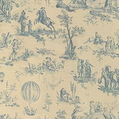 Latress Maryssa Toile Ivory/Navy Fabric